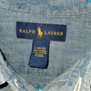 Polo by Ralph Lauren Shirts & Tops - Boys Polo RL Long Sleeve Denim Shirt Large 14-16